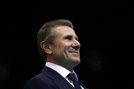 Bubka attends the last day of the boxing competition at the London Olympics