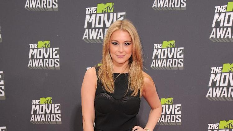 Alexa Vega arrives at the MTV Movie Awards in Sony Pictures Studio Lot in Culver City, Calif., on Sunday April 14, 2013. (Photo by Jordan Strauss/Invision/AP)
