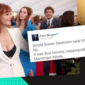 EXCLUSIVE: Susan Sarandon Says Piers Morgan Has 'Too Much Time on His Hands' After Twitter Feud