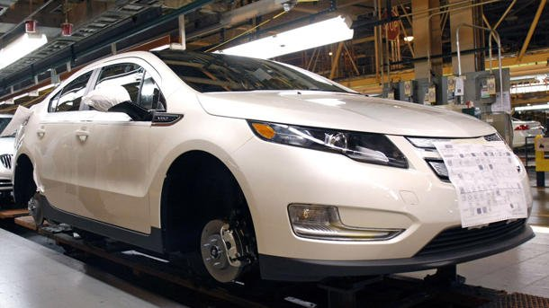 Chevrolet Volt factory shutdown General Motors