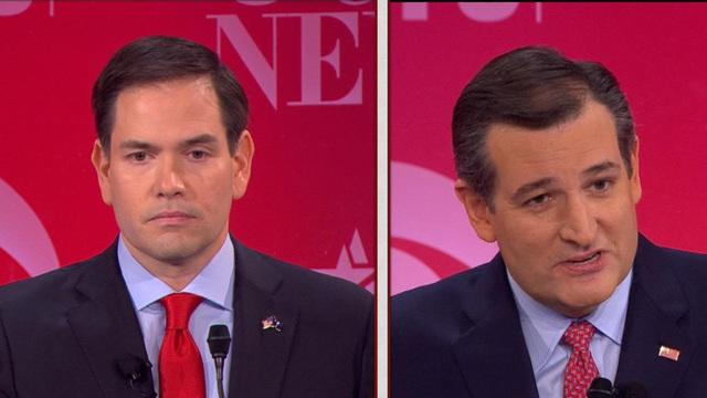 Marco Rubio and Ted Cruz's fiery clash on immigration