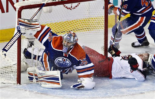 Hemsky gets go-ahead goal as Oilers beat Jackets