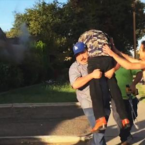Mysterious hero vanishes after saving man from fire