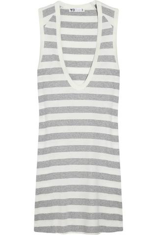 Y-3 Striped cotton dress, $85.50, at The Outnet
