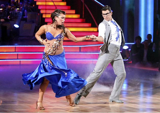 Cheryl Burke and Rob Kardashian perform on &quot;Dancing With the Stars.&quot; 