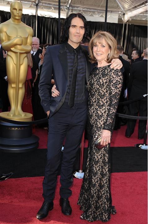 Russell and his mom in black-tie