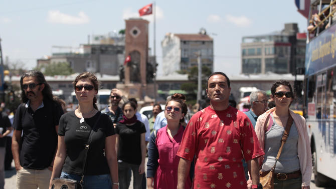 Turkish official approves 'standing man' protest