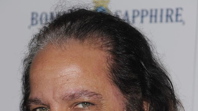"Adult film star Ron Jeremy attends a Cinema Society screening of ""Ghost Town"" at the IFC Center Monday, Sept. 15, 2008 in New York. Jeremy is recovering from surgery at a Los Angeles hospital after an aneurysm near his heart sent him to intensive care. Agent Mike Esterman says in an email to The Associated Press that he and others were waiting for Jeremy to awake Wednesday night Jan. 30, 2013 after a smooth procedure at Cedars-Sinai Medical Center. (AP Photo/Evan Agostini)"