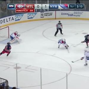 Dustin Tokarski Save on Carl Hagelin (17:51/1st)