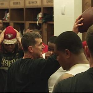 San Francisco 49ers celebrate win over Washington Redskins