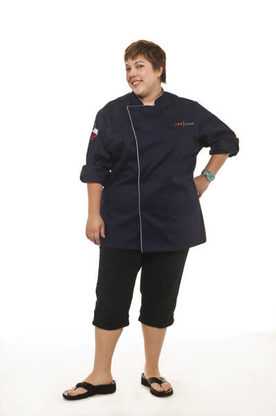 "Sarah Grueneberg competes in Season 9 of ""Top Chef."""