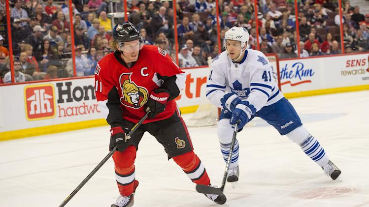 NHL: Toronto Maple Leafs at Ottawa Senators