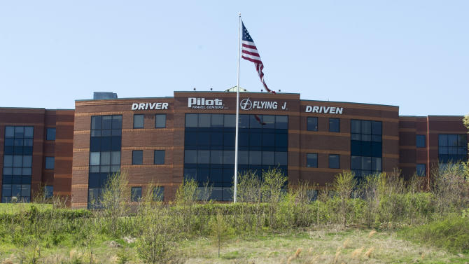 "The Pilot Flying J headquarters is seen Monday, April 15, 2013, in Knoxville, Tenn. FBI Supervisory Special Agent Marshall Stone said that FBI and IRS agents arrived at the corporate headquarters as part of a ""ongoing investigation."" (AP Photo/Knoxville News Sentinel, J. Miles Cary)"