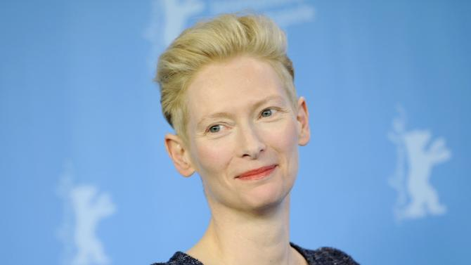 Actress Swinton poses during photocall at 66th Berlinale International Film Festival in Berlin