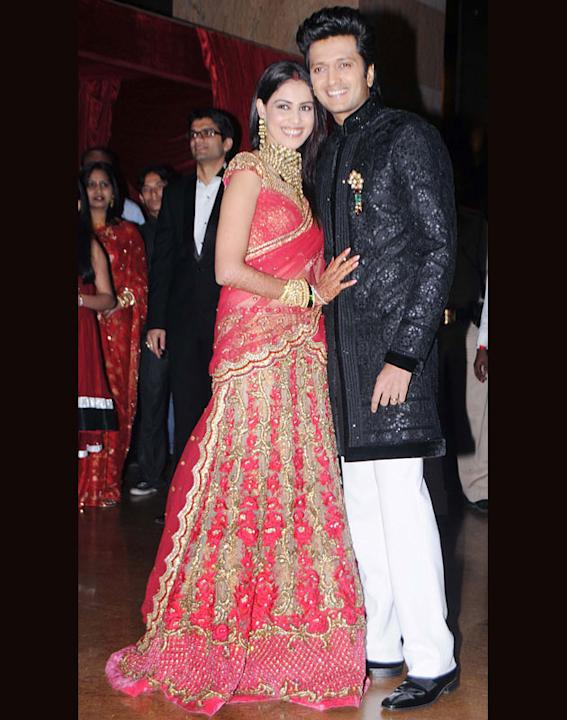 Celebs at Riteish & Genelia wedding reception