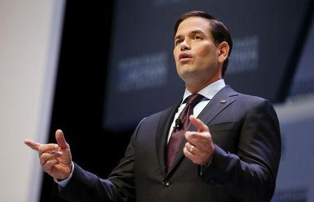 U.S. Republican presidential candidate Rubio speaks during the Heritage Action for America presidential candidate forum in Greenville