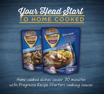Progresso Recipe Starters provide easy solutions to make weeknight meals