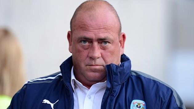 Coventry City's manager Andy Thorn