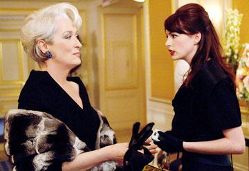 Meryl Streep and Anne Hathaway in 20th Century Fox's The Devil Wears Prada
