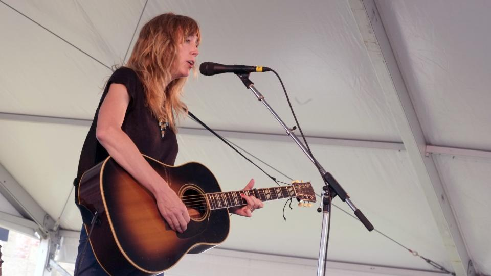 Beth Orton performs at the 54th edition of the Newport Folk Festival in Newport, R.I. on Sunday, July 28, 2013. (AP Photo/Joe Giblin)