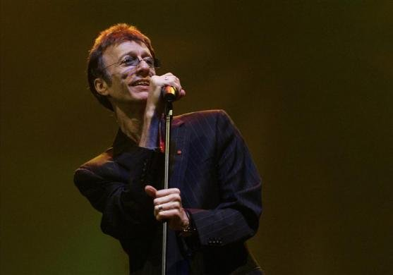Former Bee Gees singer Robin Gibb performs at the Skywards Dubai International Jazz Festival