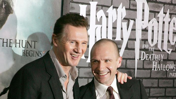 Harry Potter and the Deathly Hallows Pt 1 NYC premiere 2010 Liam Neeson Ralph Fiennes