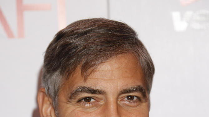 George Clooney attends the 13th Annual AFI Awards Luncheon at the Four Seasons Hotel Los Angeles at Beverly Hills on Friday, January 11, 2013 in Los Angeles. (Photo by Todd Williamson/Invision/AP)