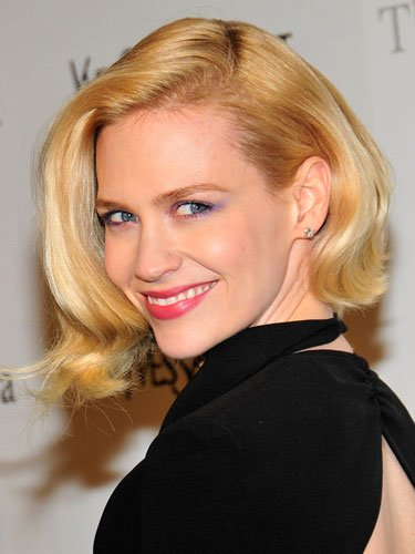 Chin-length: January Jones
