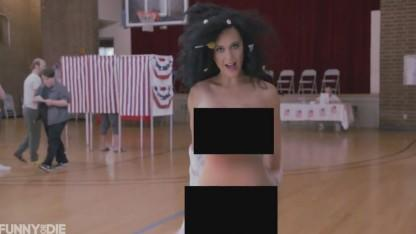 Katy Perry Sheds Her Clothes to Boost Voter Turnout: 'Let Those Babies Loose'