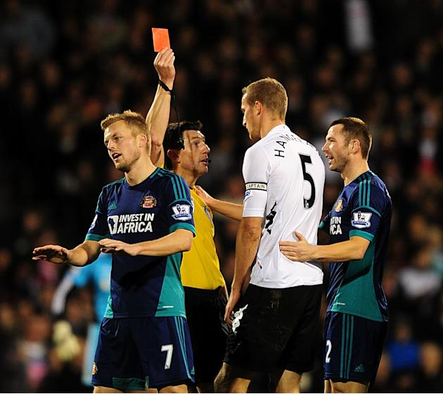 Martin Jol believes the red card for Brede Hangeland was harsh