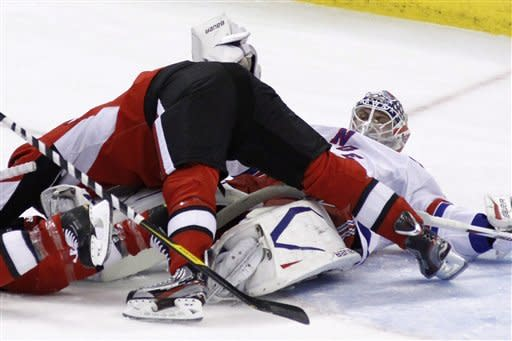 Rangers lose 4-1 to Senators, on rare 2-game skid