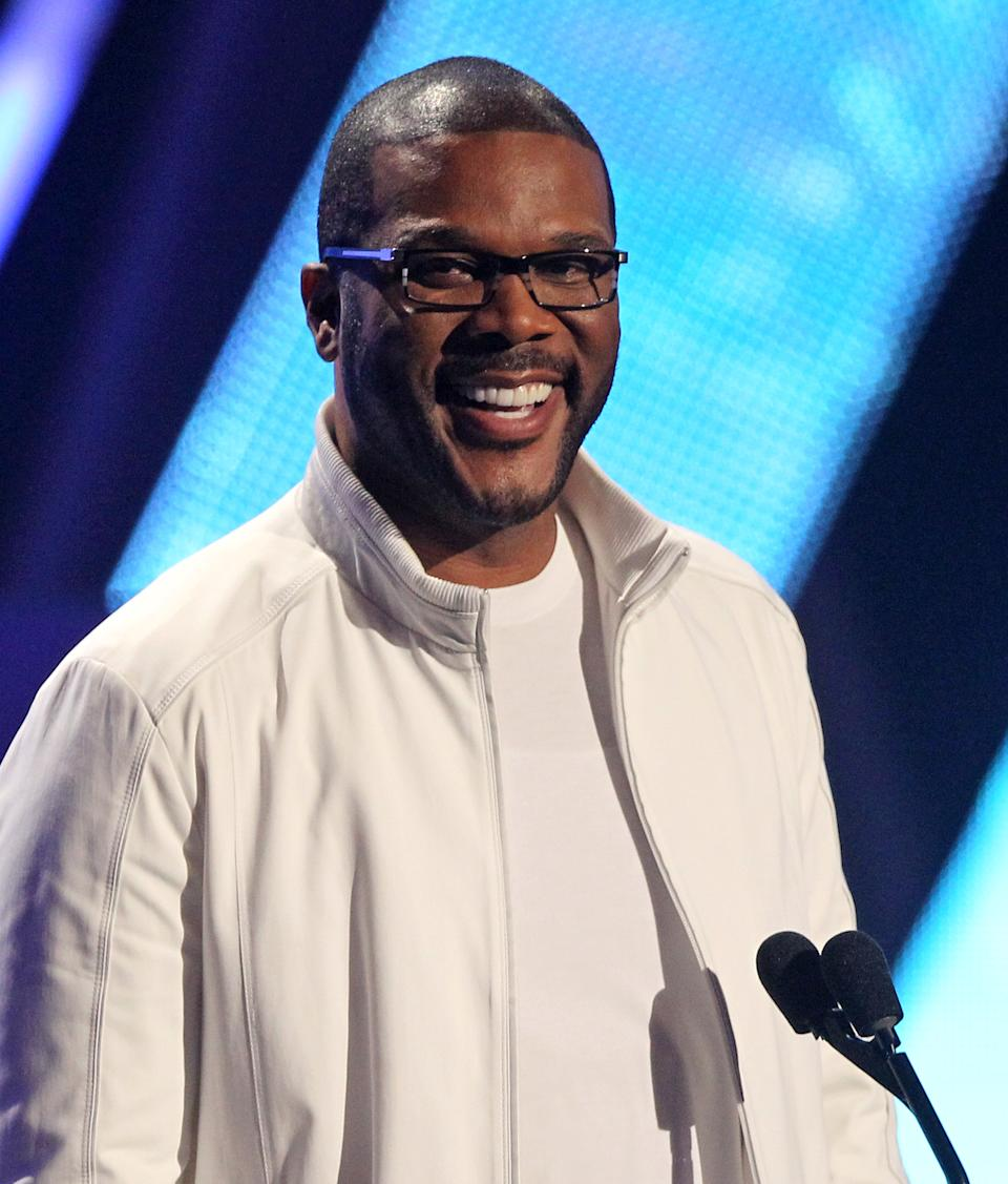 Tyler Perry is seen at the BET Awards on Sunday, July 1, 2012, in Los Angeles. (Photo by Matt Sayles/Invision/AP)