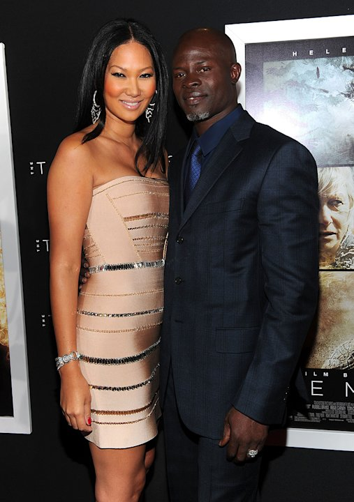The Tempest 2010 LA Premiere Kimora Lee Djimon Hounsou