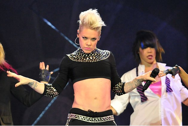 Pink Performs At The 02 Arena