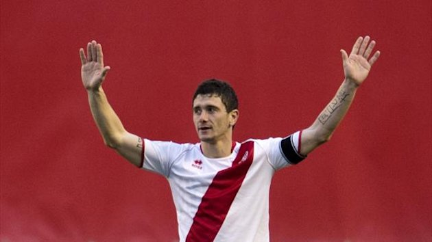 Piti in action for Rayo Vallecano (AFP)