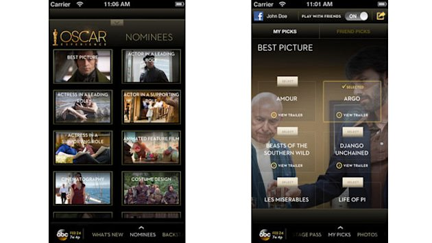 The Best Apps for the Oscars (ABC News)