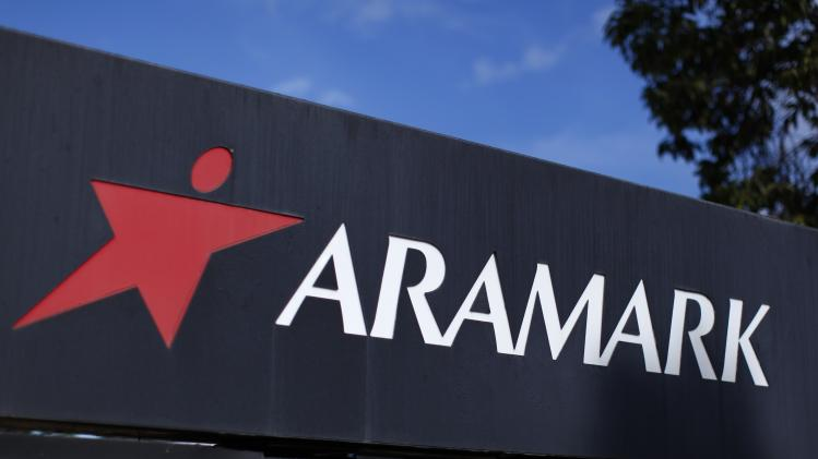 A Aramark company logo is seen at a facility in San Diego, California