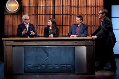 Judges with Ted Allen on Chopped Tournament of Stars
