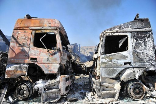 Turkish Truck Drivers Accuse Rebel Fighters Of Looting