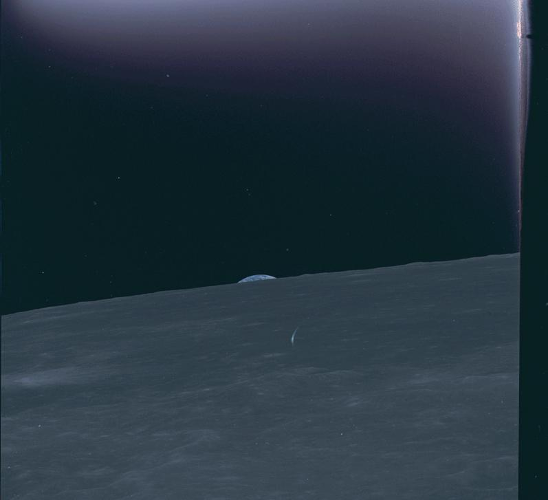 One of the most amazing sights from the historic Apollo 10 mission wasn't the moon