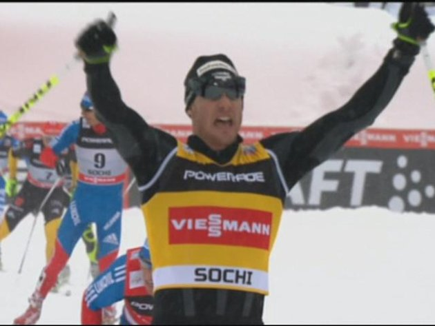 Steira wins skiathlon at Olympic test event in Sochi