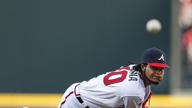 Santana, Gattis lead Braves to 2-0 win over Padres