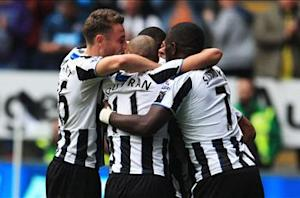Newcastle United 3-0 Cardiff City: Welsh side relegated amid Pardew protests