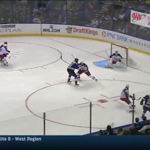 Sergei Bobrovsky Save on Alex Pietrangelo (03:04/1st)