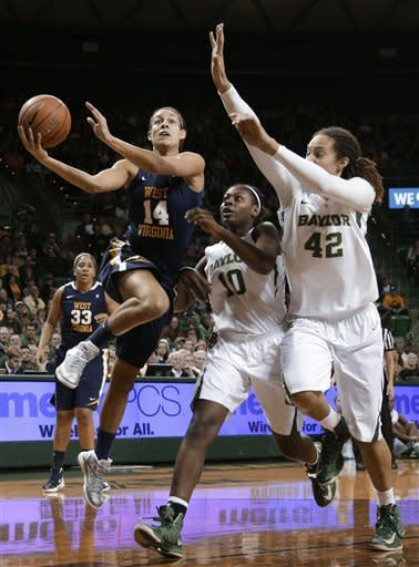 Griner leads No. 1 Baylor women over WVa, 76-58