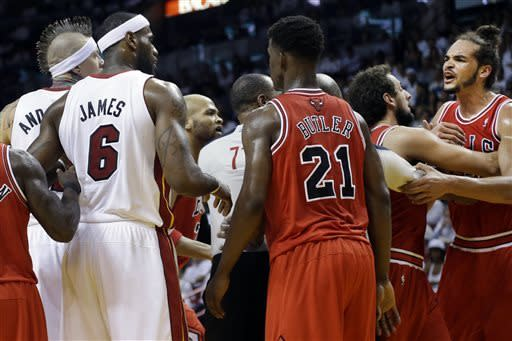 A romp for the Heat, who top Bulls 115-78