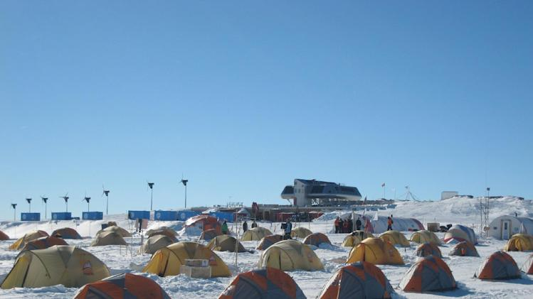 Picture taken in Utsteinen, Antarctica of scientists' 'tent village'
