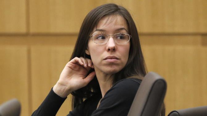 FILE - This Jan. 9, 2013 file photo shows Jodi Arias appearing for her trial in Maricopa County Superior court in Phoenix. Live television coverage of Arias' penalty phase retrial will be banned and the case will remain in Phoenix despite defense arguments that intense publicity will make it difficult to find impartial jurors, a judge ruled this week. (AP Photo/Matt York, file)