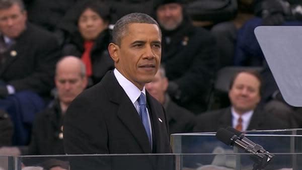 Obama talks climate change in inaugural address