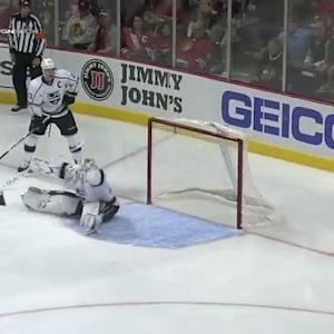 Ben Scrivens picks off Patrick Kane's shot